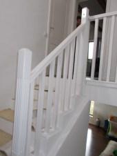 Balustrada lemn alba Bucuresti