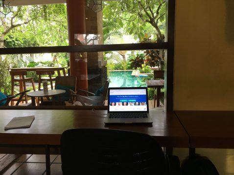 Coworking Legian. Именно тут Каримаджо работает по будням.