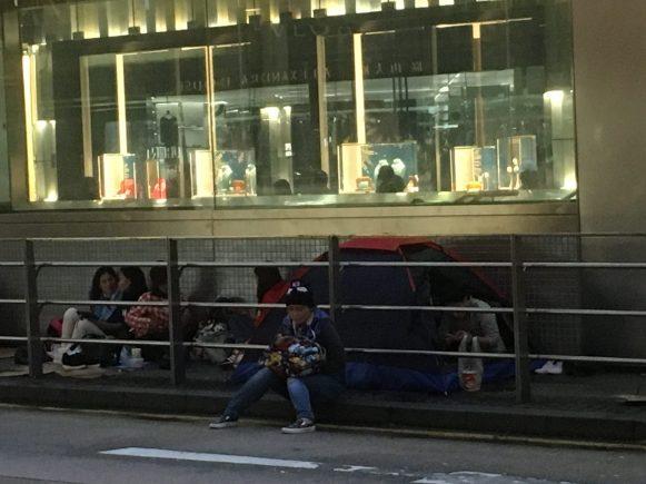 Бездомные в Гонконге