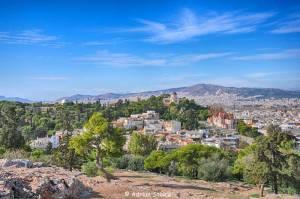 """Atena, vazuta de pe pe """"dealul"""" Areopagus"""