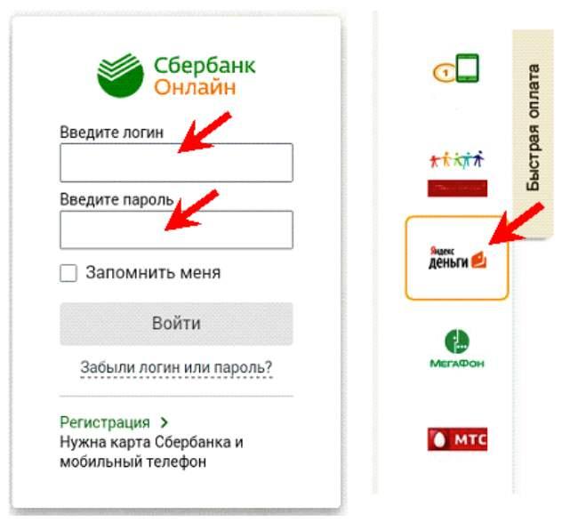 Sberbank মাধ্যমে Yandex Wallet থেকে অনুবাদ অনলাইন
