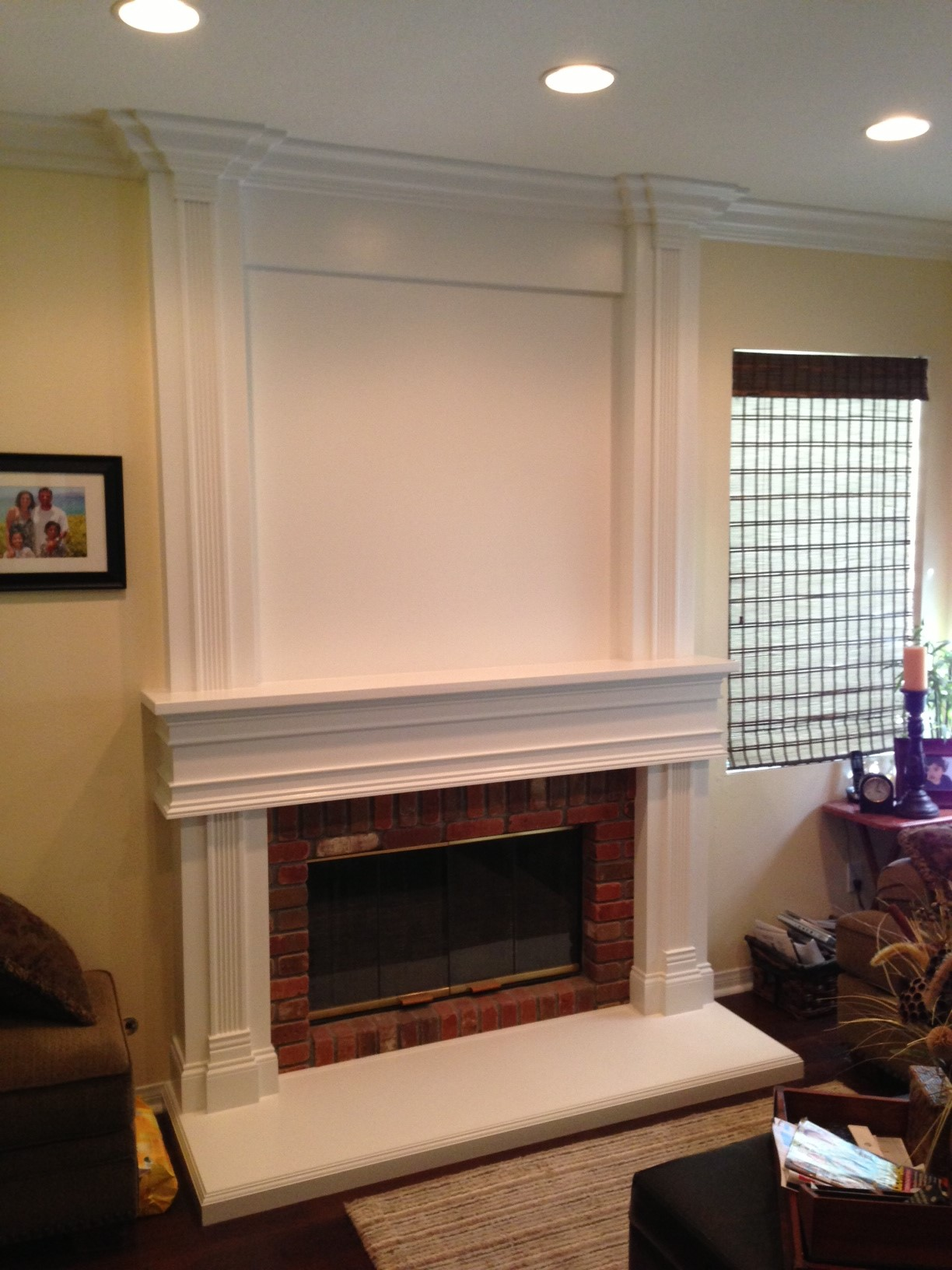 Floor to Ceiling Mantel  Wainscot in Chino Hills