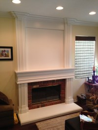 Floor to Ceiling Mantel & Wainscot in Chino Hills ...