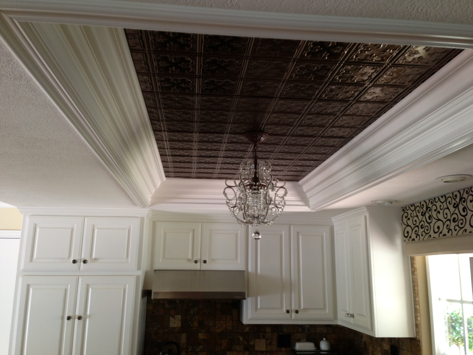 kitchen ceiling tiles movable islands an inexpensive cabinet remodel vrieling