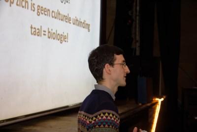 Predavanje dr. Marka Hladnika (foto: Keimpe Dijkstra)