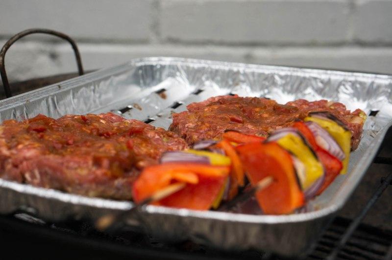 Op de barbecue