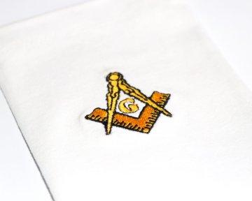 Handschoenen Passer en winkelhaak Dutch nederlandse regalia maçonniek Vrijmetselarij Vrijmetselaarswinkel Loge Benelux