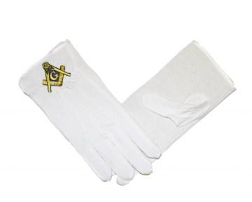 Handschoenen Blauwe Graden nederlandse regalia maçonniek Vrijmetselarij Vrijmetselaarswinkel Loge Benelux