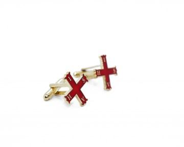 Manchetknopen Red Cross of Constantine nederlandse regalia maçonniek Vrijmetselarij Vrijmetselaarswinkel Loge