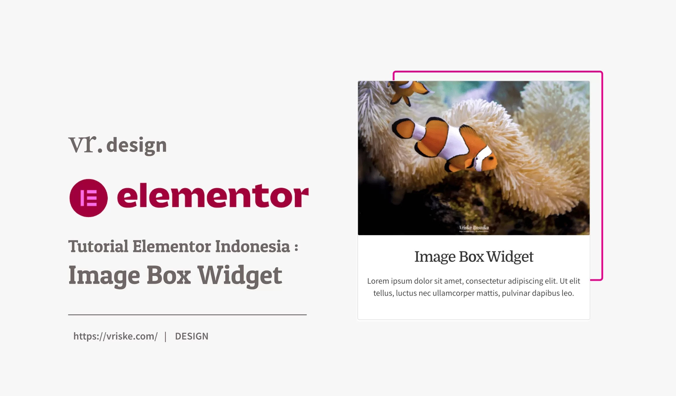Tutorial Elementor Indonesia Image Box Widget