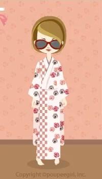 Kimono-Modern Rose / Wh10AJ