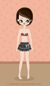 Dot frill skirt / bk09C