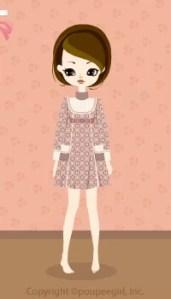 Flower dot dress / pk09KJ