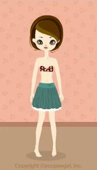 Balloon mini skirt / gn09G