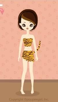 Tiger girl costume / 10AJ