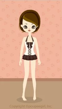 Frill Ribbon dress swimsuit / Br09G