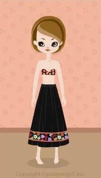 Flower skirt / bk09C
