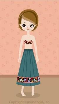 Flower skirt / bl09C