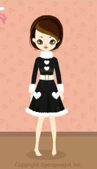 Girly Santa Dress / Bk09L