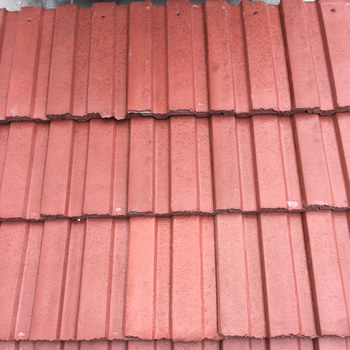 salvaged concrete roof tiles