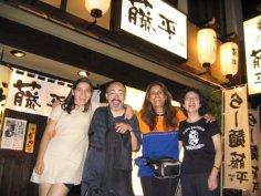 Vanessa with Yutaka Hashimoto, Sylvia Cuenca and Atsuko Hashimoto; Osaka, August 23, 2005