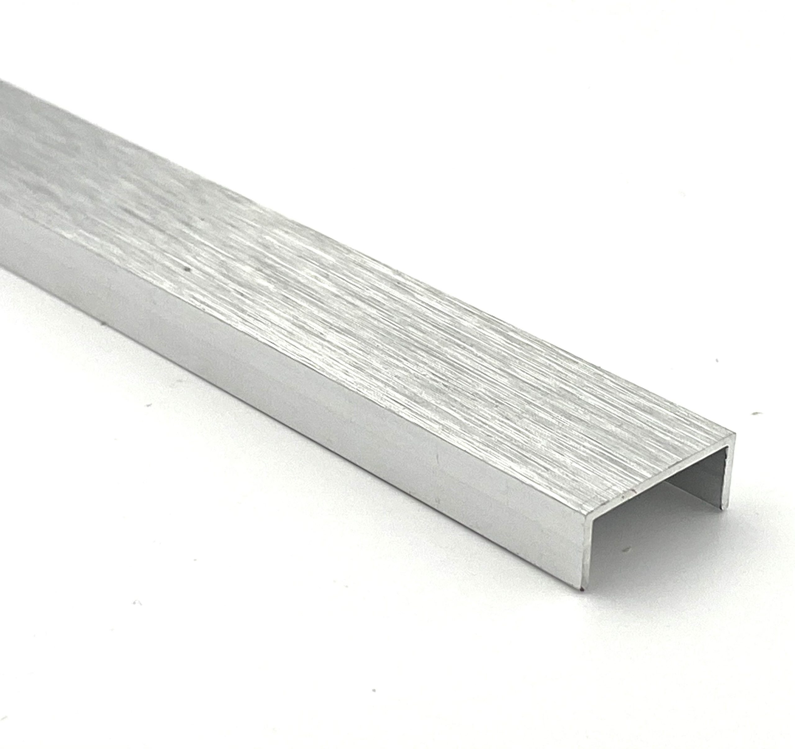 vroma deep brushed chrome listello 2 5m aluminium tile trim