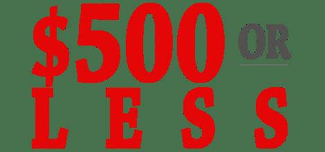 500orLess