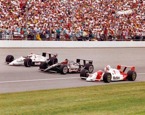 1991 - 1ª linha com Rick Mears no nº3, A.J. Foyt no nº14 e Mario Andretti no nº6