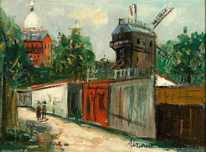 Utrillo Moulin de la Galette and Sacre coeur