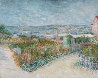 Vincent van Gogh Tuin achter Moulin de la Galette 1887