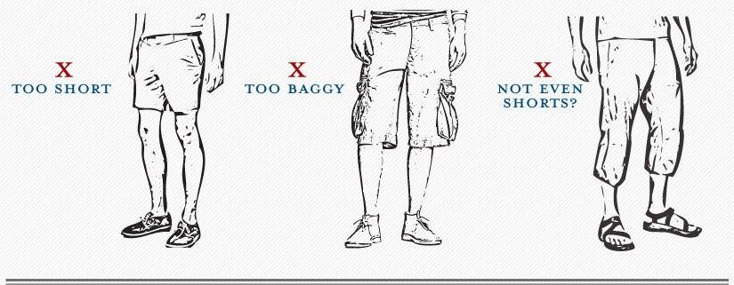 Mannen in korte broek