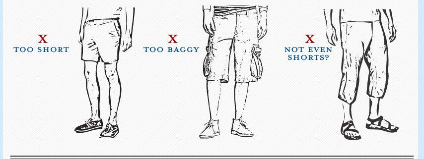 Hombre en pantalon corto
