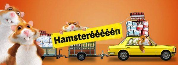 Hamsters in paniek