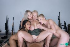 Czech VR 234 - Fivesome With Army Girls Angel Wicky, Lucy Heart, May Thai, Selvaggia Babe vr porn