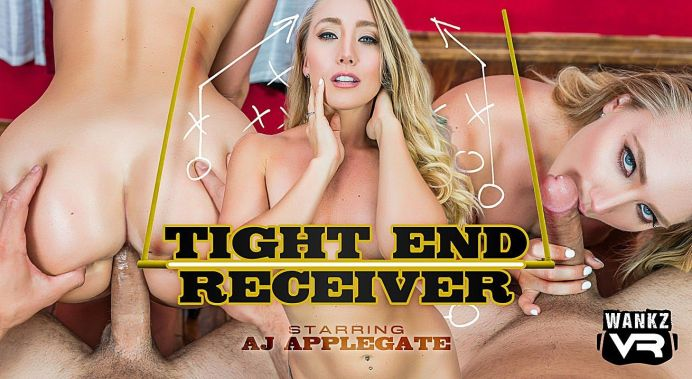 Tight End Receiver Aj Applegate vr porn