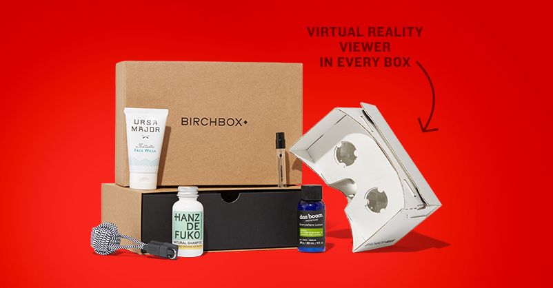 Birchbox Google Cardboard VR Viewer