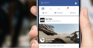 Facebook 360 Video Newsfeed
