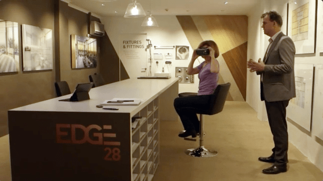 In the EDGE 28 VR showroom