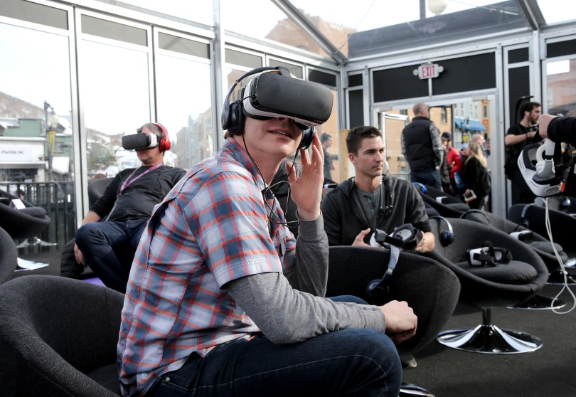 "Actor Rob Huebel attends Funny Or Die World Premiere of virtual reality comedy short, ""Interrogation"""