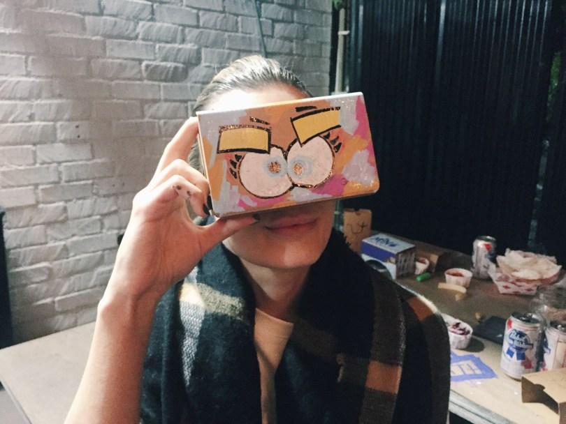 google cardboard vrscout art show
