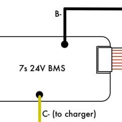 4s Bms Wiring Diagram Mercruiser Alpha One Outdrive Parts 24v 7s Battery Management System (bms) – Vruzend Diy Kit