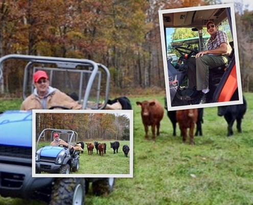 Ron Burleson on the farm