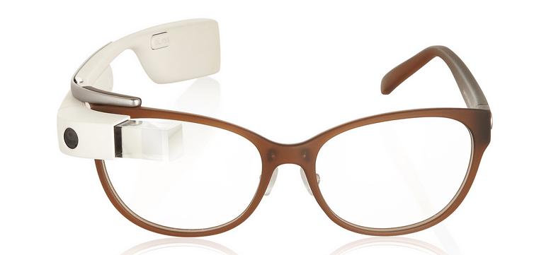 DVF Google Glass Brown White
