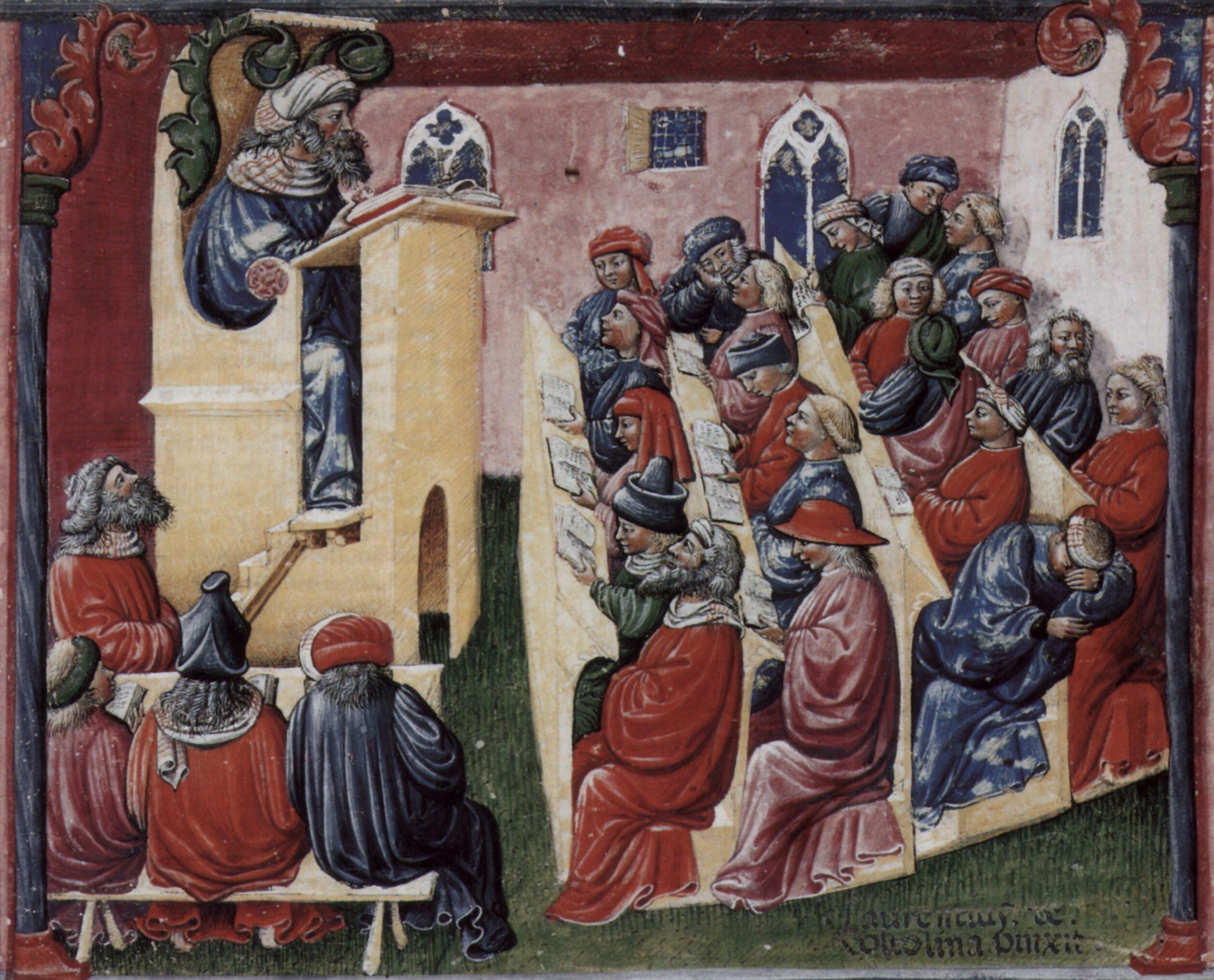 A medieval university