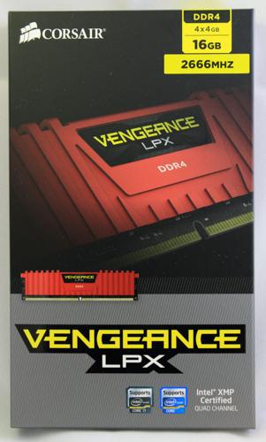 Corsair Vengeance LPX CMK16GX4M4A2666C15R-1