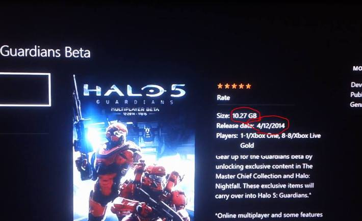 Report Halo 5 Beta Is 10 27gb