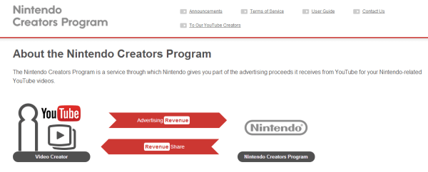 Nintendo's Creator Program