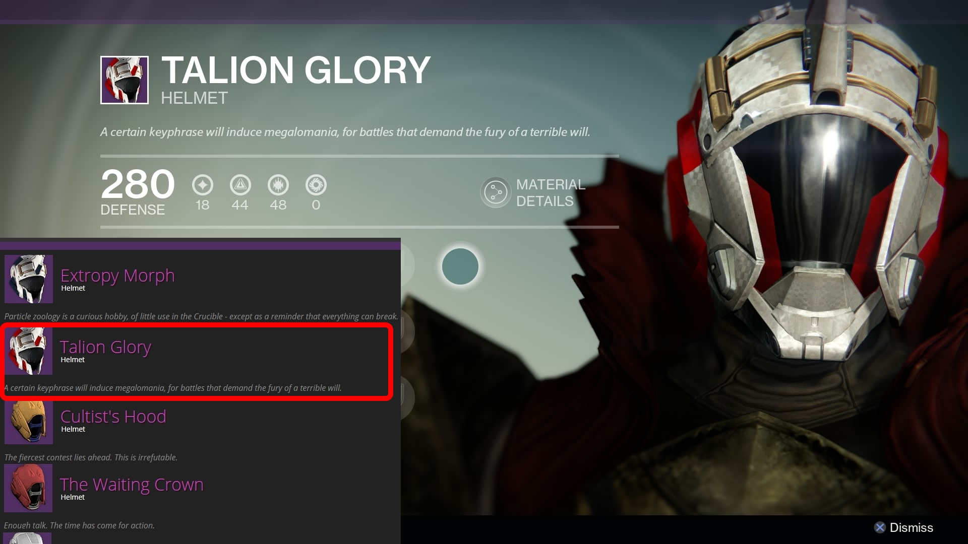 Destiny leak talion glory