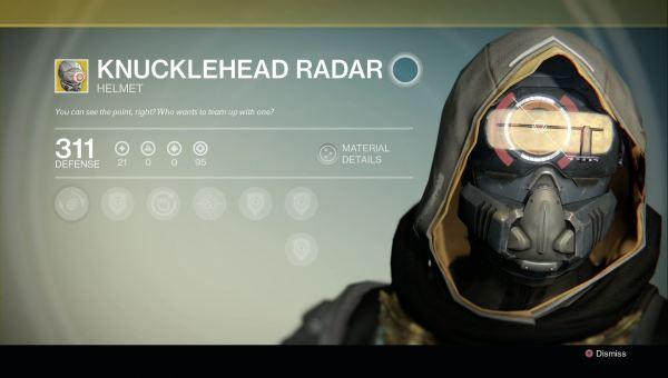 Destiny - Knucklehead Radar