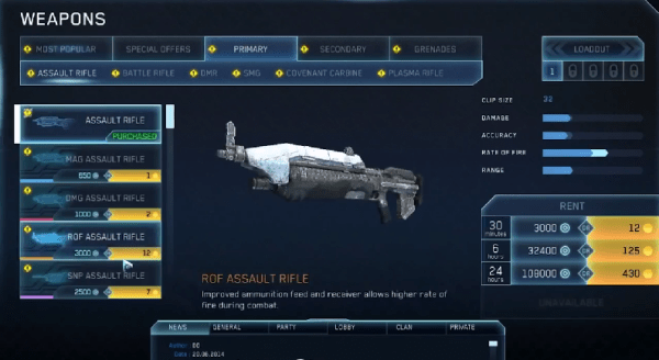Halo online Weapons